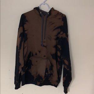Custom Bleach Dyed Hanes Hoodie